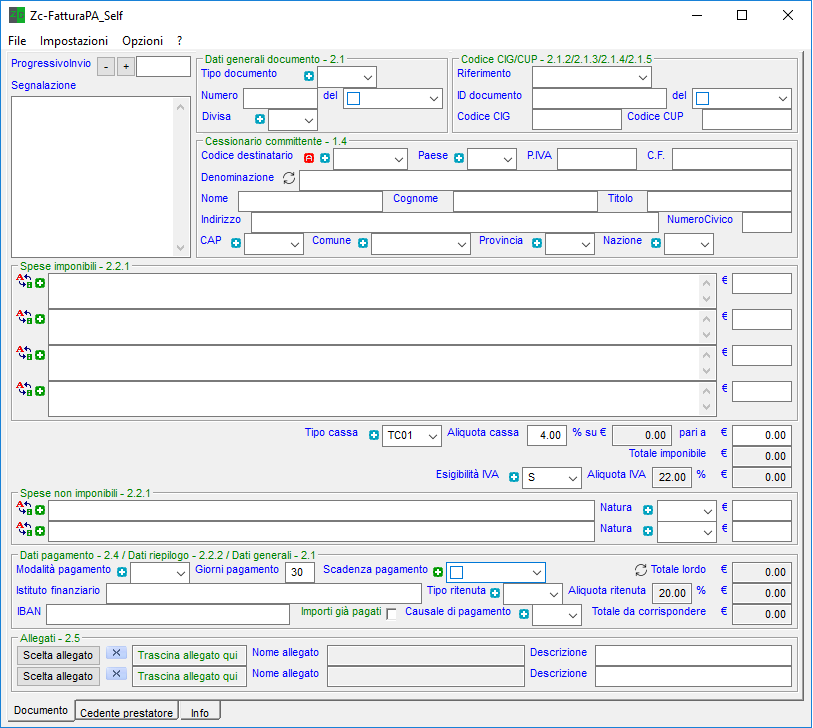 Screenshot1 Zc-FatturaPA_Self
